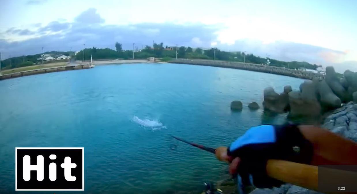 インクスレーベル「ロックンチャター」でロウニンアジ海面爆発!の動画が凄いぞ!