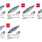 人間のほうが釣られているという噂のジグパラ「ライブベイト」カラーシリーズが「ジグパラマイクロ」「ジグパラスロー」にも(追記あり)